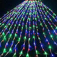 Гирлянда штора 3x3 м 300 LED желтый, зеленый, синий, красный, фото 4
