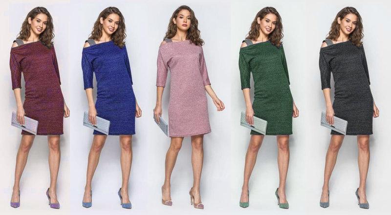 10b5fde91d5 Платье плечико из люрекса - Інтернет-магазин жіночого одягу Feshion-ledi в  Львове