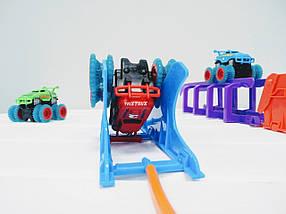 Набор Trix Trux на 2 машинки Трикс Тракс монстр-траки машинка вездеход ездит по веревкам монстер трек подарок, фото 3