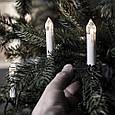Новогодняя гирлянда свеча с клмпсами на елку 30 шт., фото 3