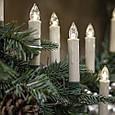 Новогодняя гирлянда свеча с клмпсами на елку 30 шт., фото 4