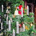 Новогодняя гирлянда свеча с клмпсами на елку 30 шт., фото 5