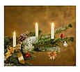 Новогодняя гирлянда свеча с клипсами на елку 15 шт. Беспроводные, фото 4