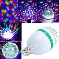 Светодиодная вращающаяся диско лампа LED Full Color Rotating Lamp Mini Party Light.
