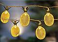 Новогодняя гирлянда, Ананасы золотой, 4 Метра цвет белый теплый, фото 2