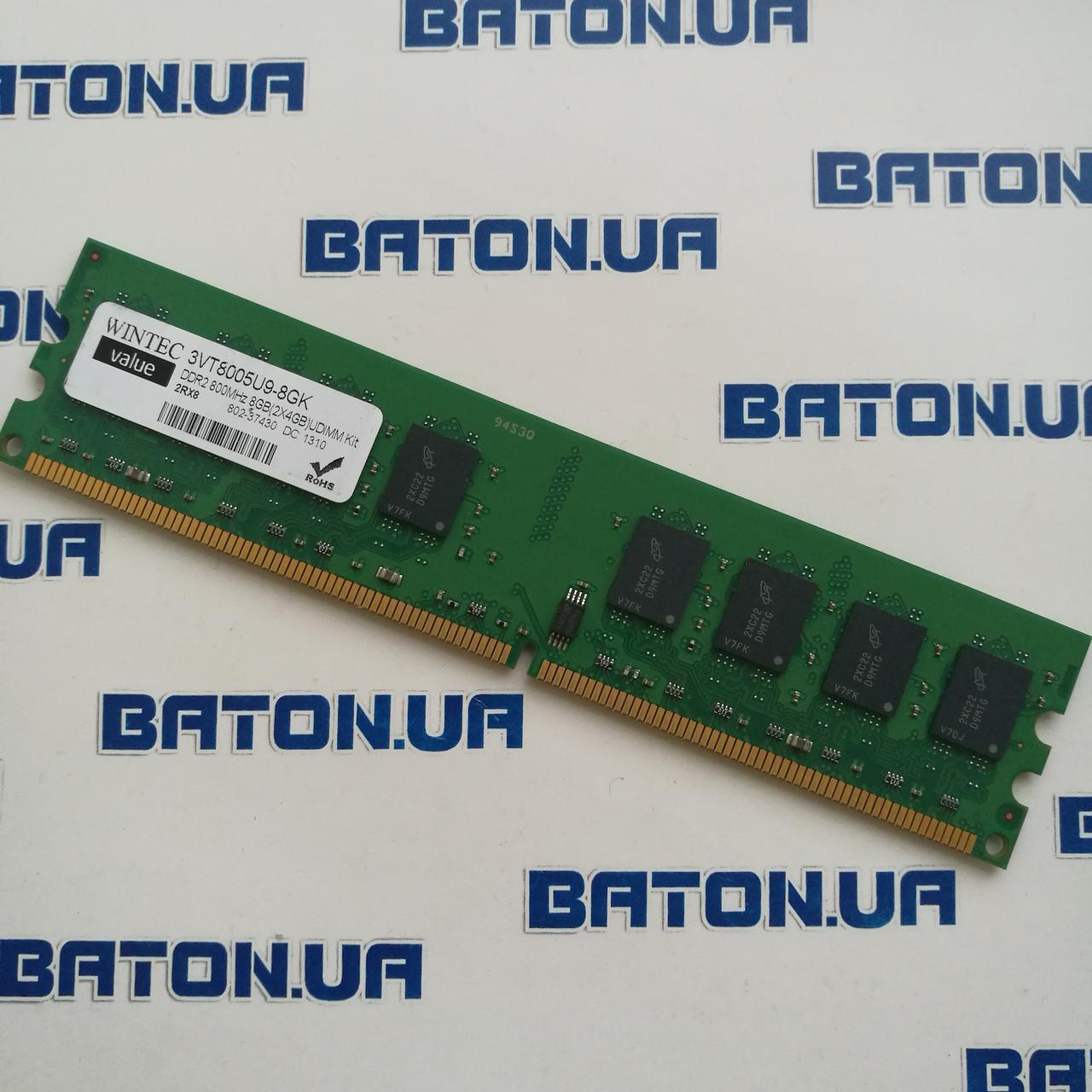 Оперативная память Wintec Value DDR2 4Gb 800MHz PC2 6400U CL6 (3VT8005U9-8GK)