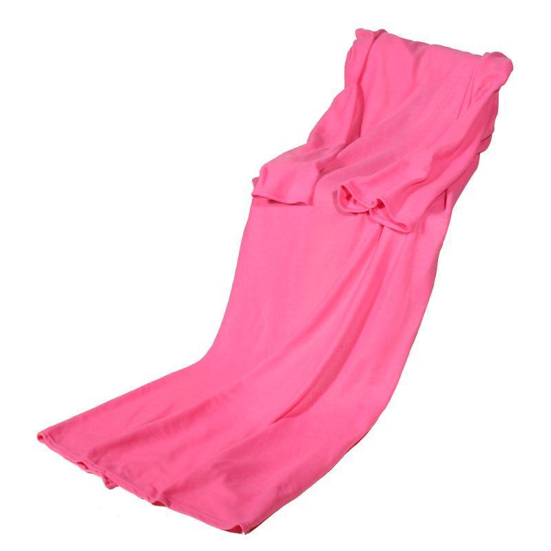 Плед з рукавами Snuggie Рожевий 180x140 см, м'який плед ковдра флісовий | теплый плед с рукавами