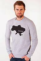 """Мужской свитшот в патриотическом стиле белого цвета """"Home"""", фото 1"""