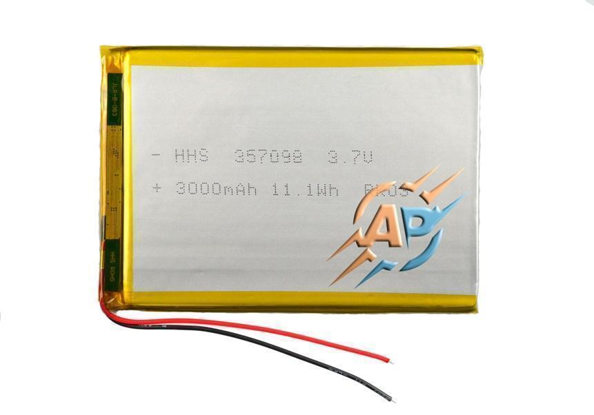 Аккумулятор 3000mAh 3.7v 357095 для планшетов Prestigio MultiPad PMT3087 3G, PMT3038 3G, PMT3057 3G, PMT3067