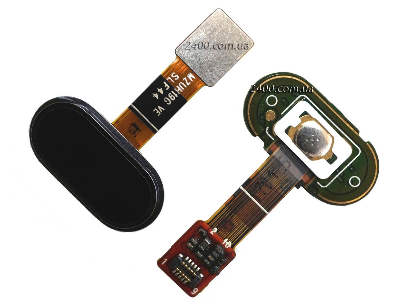 Cенсорная кнопка для смартфона Meizu M5s черная, кнопка меню мейзу м5с