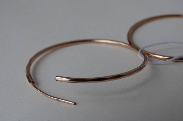 Золотые серьги кольца - конго