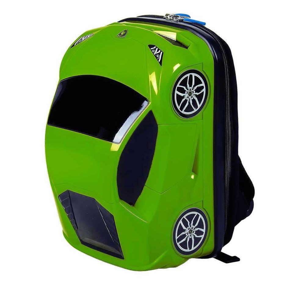Рюкзак машинка Lamborghini Huracan зелёный, 8 л, «Ridaz» (91101W-Green)