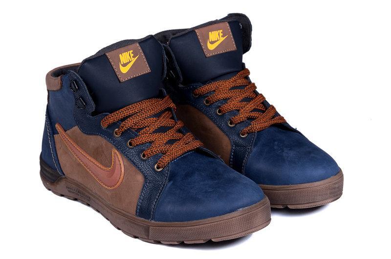 cba37481 Мужские Зимние Кожаные Ботинки Nike Anti-Core — в Категории