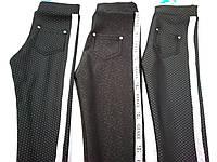 """Теплые брюки для девочки """"Лампасы"""" (134-164р) на меху"""