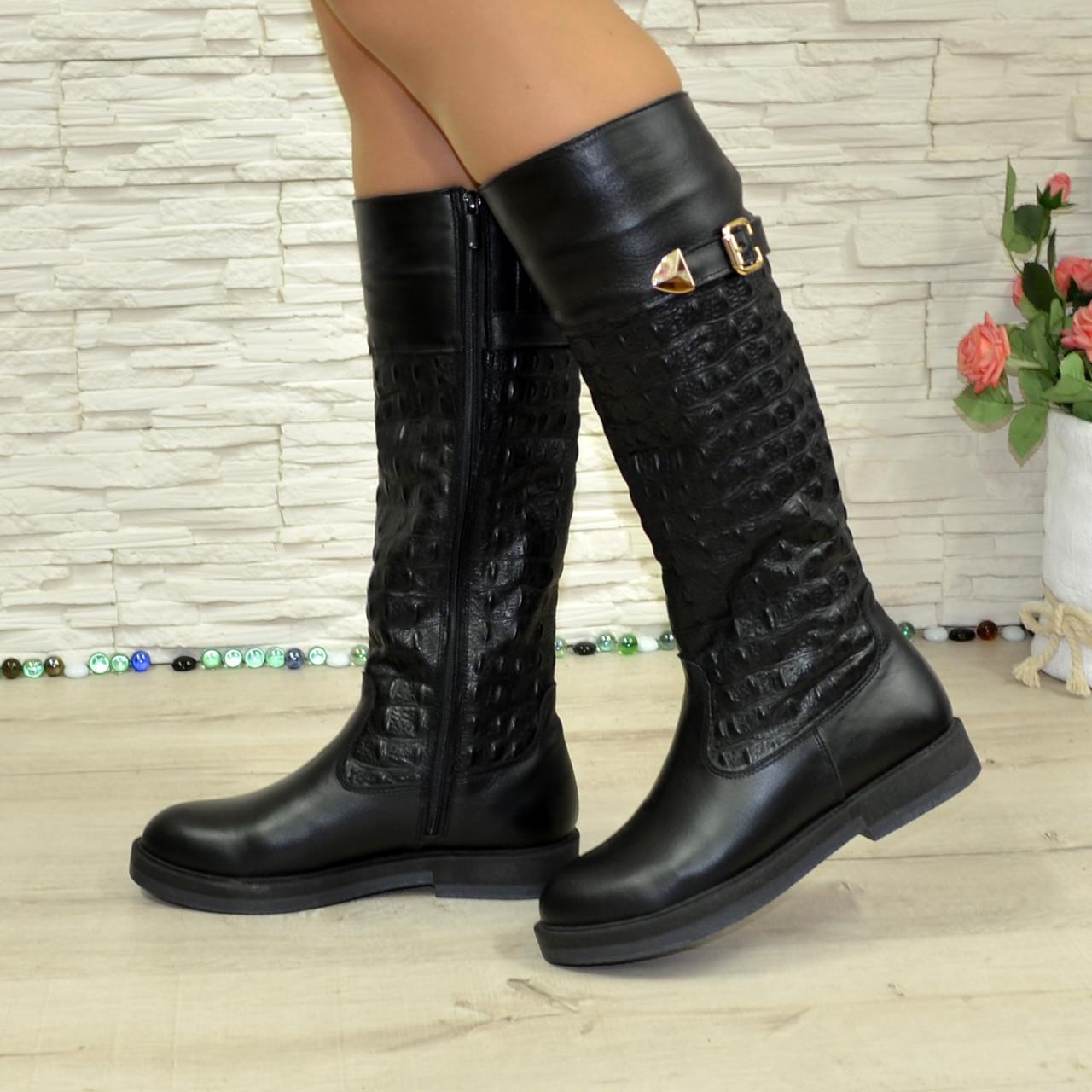 Женские зимние кожаные сапоги на низком ходу. 38 размер (2пары)