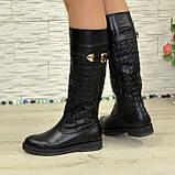 Женские зимние кожаные сапоги на низком ходу. 38 размер (2пары), фото 2