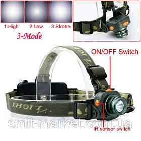 Аккумуляторный налобный фонарь DX-1505A c датчиком движения