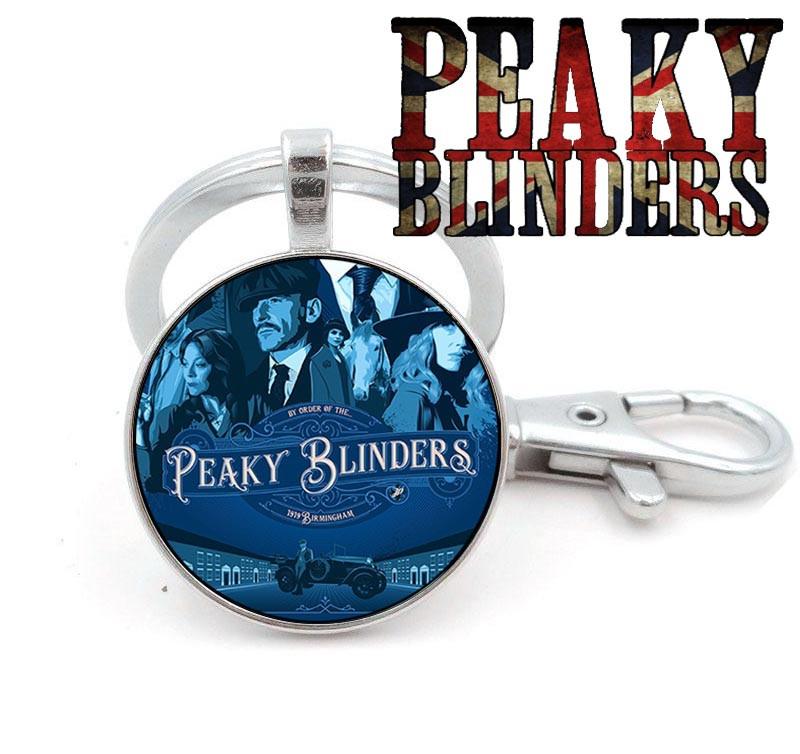 Брелок с Шелби на синем фоне Острые козырьки / Peaky blinders