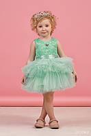 Платье для девочки Бирюза юбка фатин размер 98,104 см