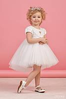 Платье для девочки Белое юбка фатин размер 122,128