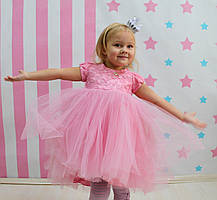 Платье для девочки Розовое юбка фатин размер 104