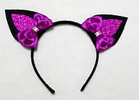 Карнавальная маска ободок черный Котик