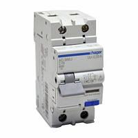 Дифференциальный автоматический выключатель 1+N, 16A, 10mA, C, 6kA, A Hager