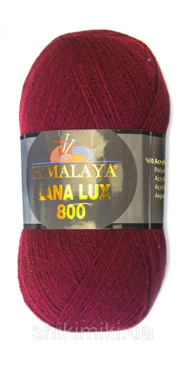 Пряжа Himalaya Lana Lux 800, цвет Бордо