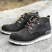 Кожаные утепленные ботинки Ecco р 33. Кожаная обувь эко