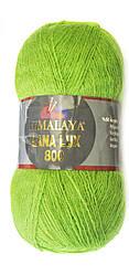 Пряжа Himalaya Lana Lux 800, цвет Салатовый