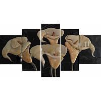 Модульная картина ручной работы из камня Калла, фото 1