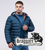 Молодежная куртка зимняя 25600 темно-бирюзовая | Braggart Youth, фото 1