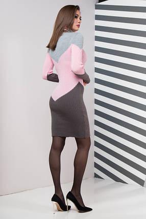 Жіноча сукня повсякденна Ельза (сірий, рожевий, графіт), фото 2