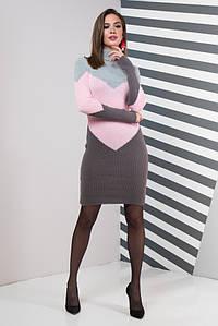 Жіноча сукня повсякденна Ельза (сірий, рожевий, графіт)