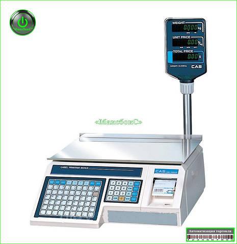Весы с термопечатью CAS LP-R  RS-232 со стойкой