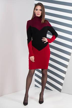 Жіноча сукня повсякденна Ельза (марсала, чорний, вишня), фото 2