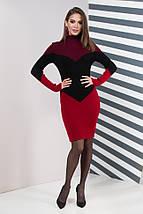 Женское платье повседневное Эльза (марсала, черный, вишня), фото 3