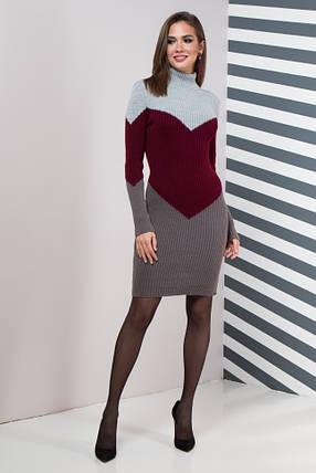 Жіноча сукня повсякденна Ельза (сірий, марсала, графіт), фото 2
