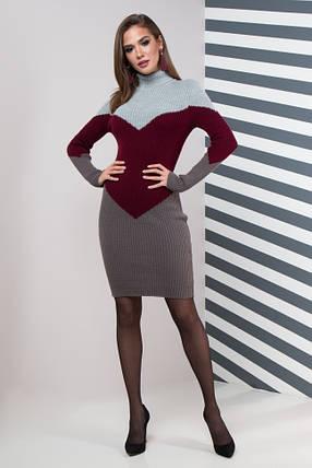 Женское платье повседневное Эльза (серый, марсала, графит), фото 2