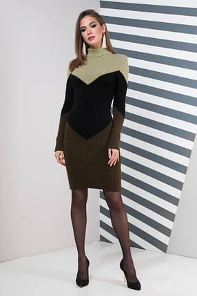 Жіноча сукня повсякденна Ельза (олива світла, чорний, олива), фото 2