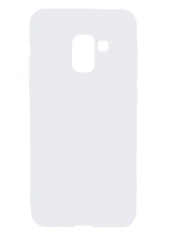 Чехол накладка Candy для Samsung A530 Galaxy A8 (2018) Силиконовый Белый