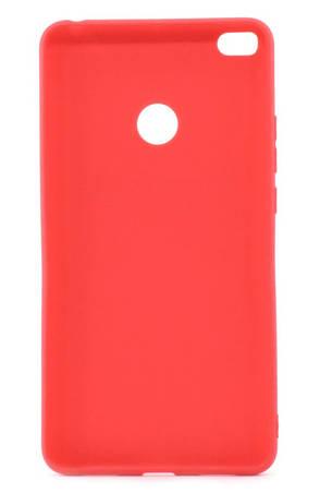Чохол-накладка Candy для Xiaomi Mi Max 2 Силіконовий Червоний, фото 2
