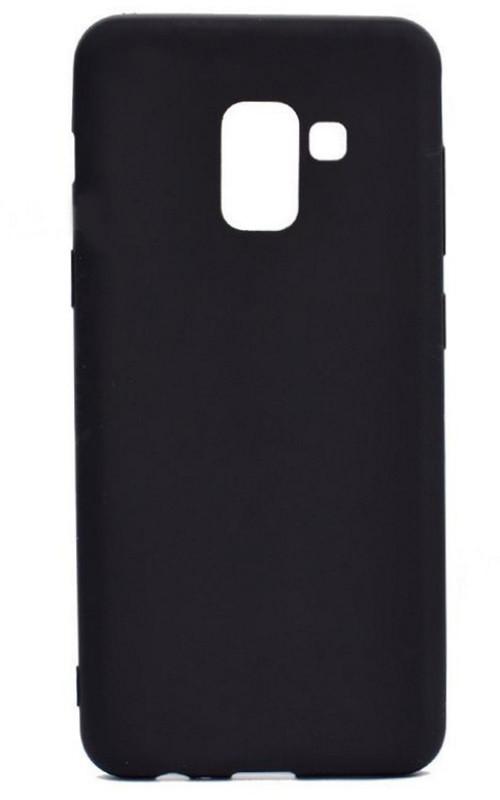 Чехол накладка Candy для Samsung A730 Galaxy A8 + (2018) Силиконовый Черный