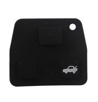 Резиновые кнопки-накладки на ключ Тойота (Toyota)