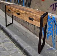 """Пристенный столик в стиле лофт """"Тайлер"""""""