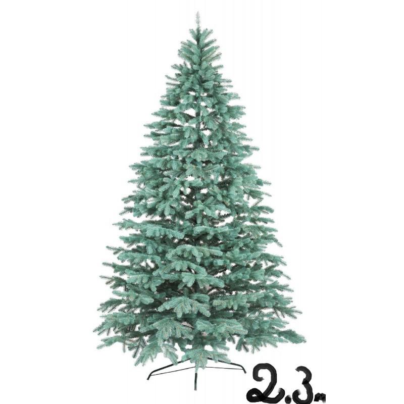 """Искусственная елка """"Литая Ковалевская"""" 2,3м голубая"""