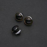 """""""Живые глазки"""" для игрушек золотистый цвет черная ножка d-20мм фас.50пар"""