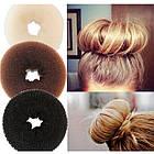 Аксессуары для волос;Валик для прически,бублик,Bun Maker (для увеличенния объема волос), диаметр: 9 см, 12шт, фото 2