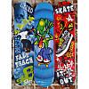 Скейт деревянный с пластиковой подвеской 6 видов, фото 2