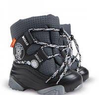 Детские сапоги, дутики Demar Snow ride серый 26-27